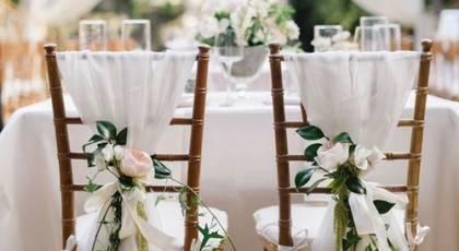 30 تزیین صندلی عروس و داماد