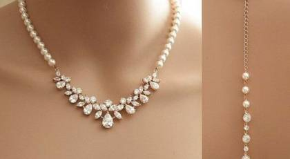 گردنبند مروارید عروس با طرح های جذاب و زیبا