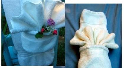 تزیین حوله سرویس بهداشتی عروس