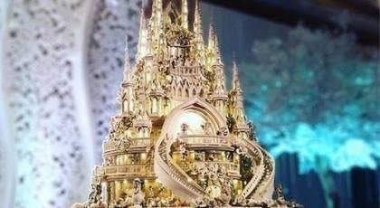 22 کیک عروسی باشکوه مدل قصر