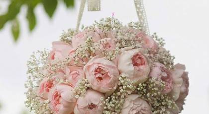 24 دسته گل عروس توپی و آویزی