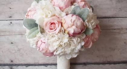 دسته گل عروس 2017 زیبا و رومانتیک