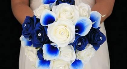 دسته گل های عروس آبی - سری جدید