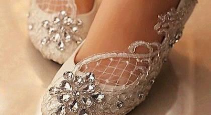 مدل های کفش عروس بدون پاشنه فوق العاده زیبا