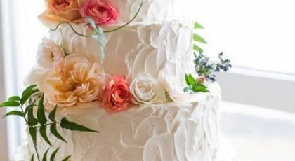 27 کیک عروسی با روکش خامه زیبا 2017