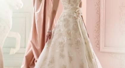 28 لباس عروس دکلته شیک 2017