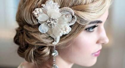 مدل آرایش مو کوتاه عروس شیک و جدید 2017