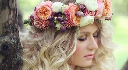 20 تاج سر عروس زیبا با گل های طبیعی و مصنوعی